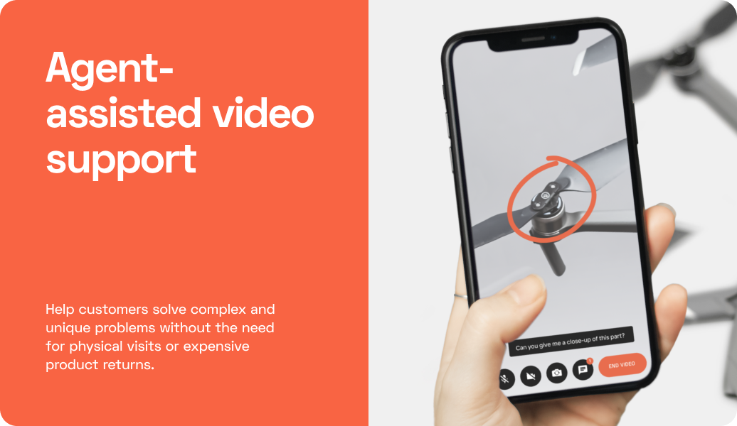 Agent-assisted video support